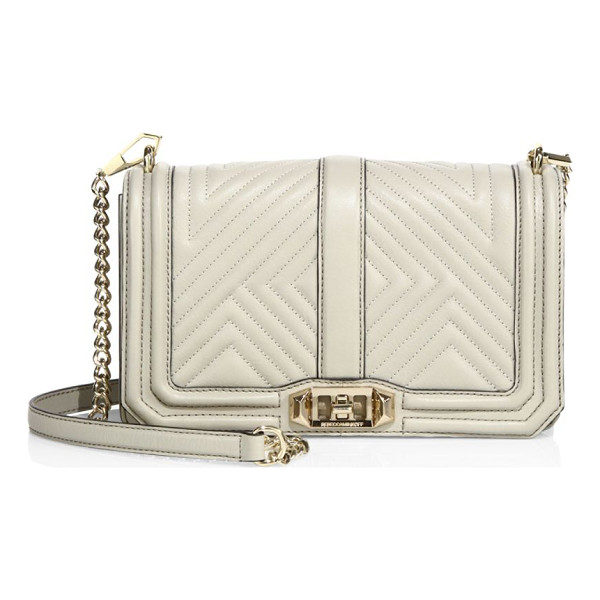 REBECCA MINKOFF Love quilted leather crossbody bag - Convertible crossbody with luxe geo-quilted design....