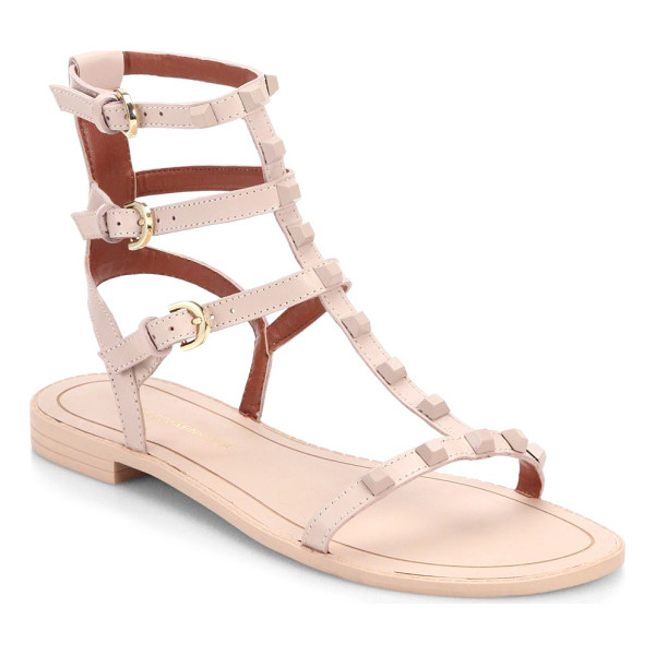 REBECCA MINKOFF georgina studded leather gladiator sandals - Tonal studs edge up minimalist leather gladiators. Leather...