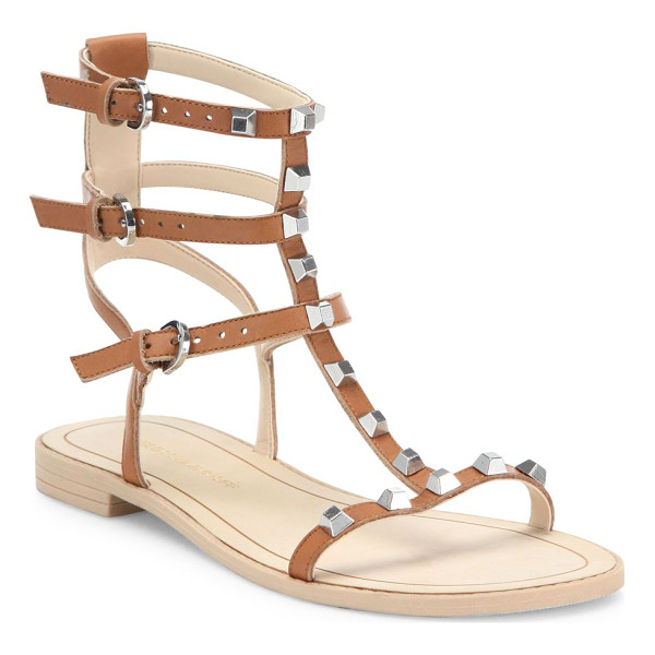 REBECCA MINKOFF georgina studded leather gladiator sandals - Signatures studs trim minimalist leather gladiators....