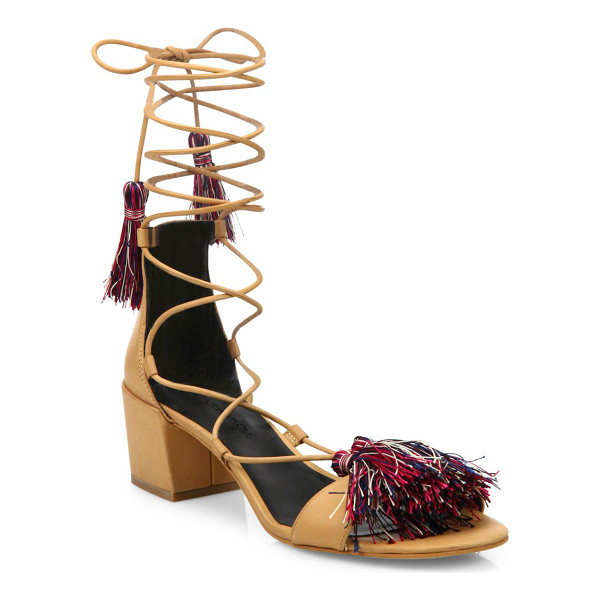 REBECCA MINKOFF isla kid leather gladiator sandals - Radiant tassels style this supple gladiator-style pair.
