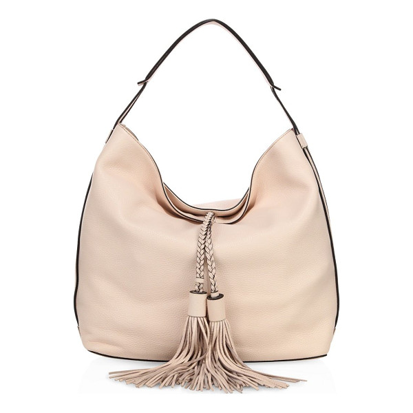 REBECCA MINKOFF isobel leather hobo bag - Slouchy leather silhouette with braided tassel ties.