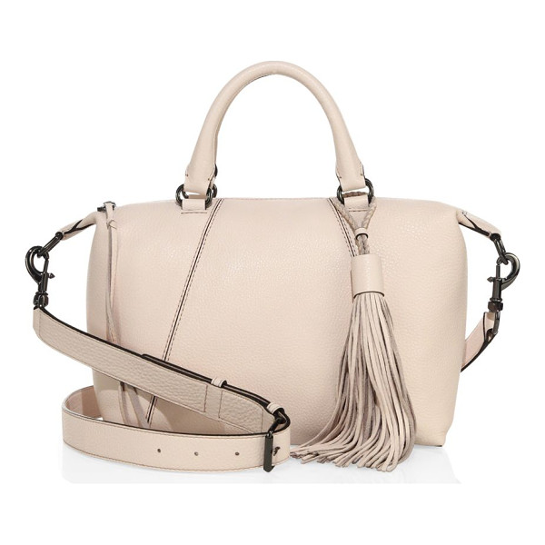 REBECCA MINKOFF isobel small leather satchel - Amply sized paneled satchel with tassel accent. Double top