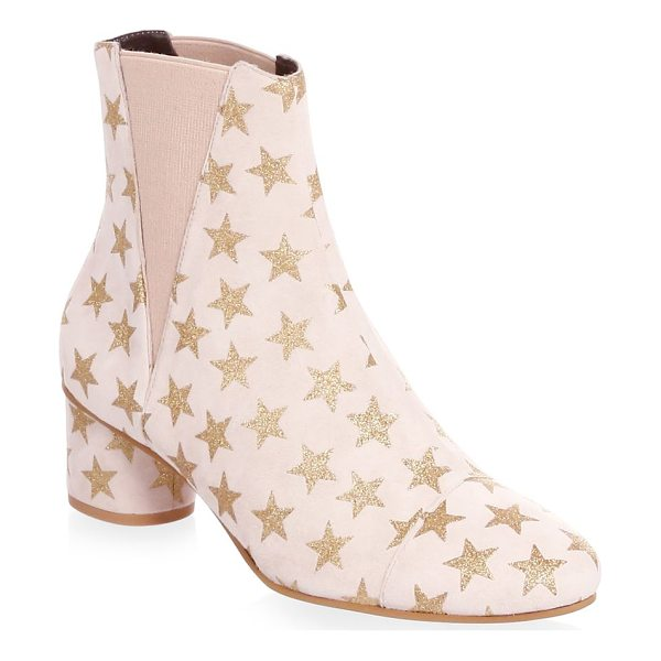 REBECCA MINKOFF izette suede star booties - Soft suede ankle boots with metallic star pattern. Self...