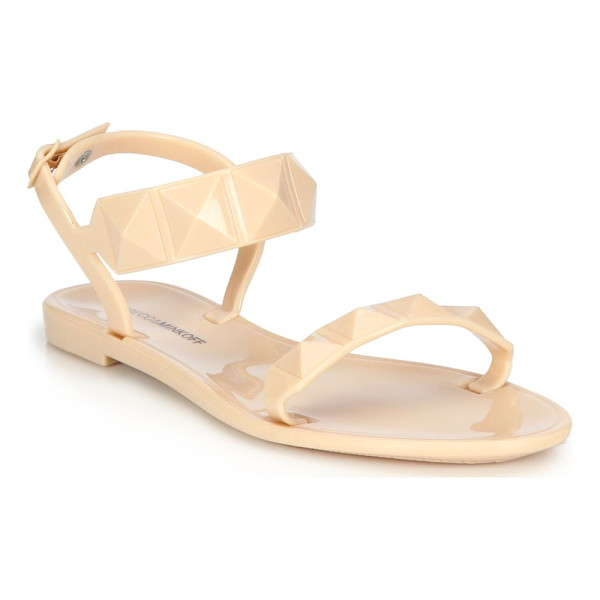 REBECCA MINKOFF Jana studded flat jelly sandals - Edgy studded sandal of durable PVCPVC upperAdjustable ankle...