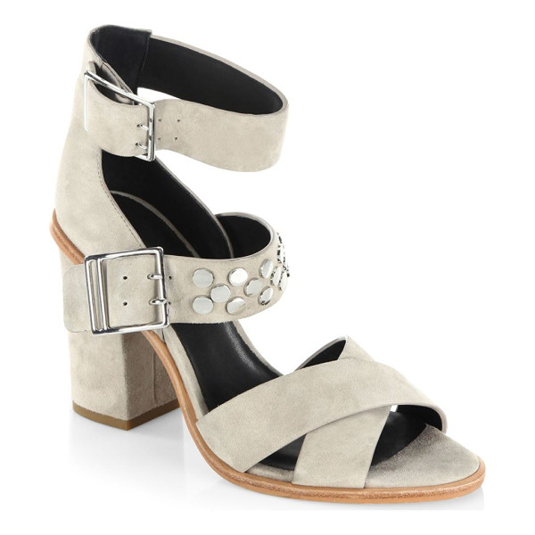 REBECCA MINKOFF jennifer leather sandals - Modern leather sandals styled with crisscross straps....