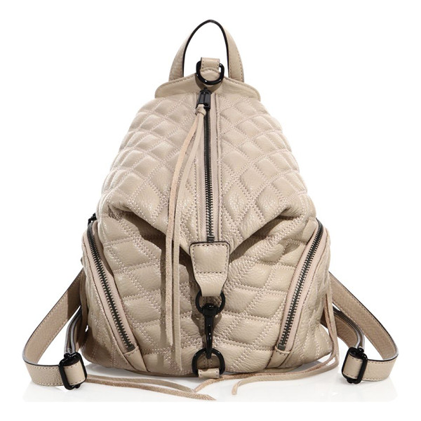 REBECCA MINKOFF julian medium quilted leather backpack - Uniquely shaped backpack in diamond-quilted leather. Top...