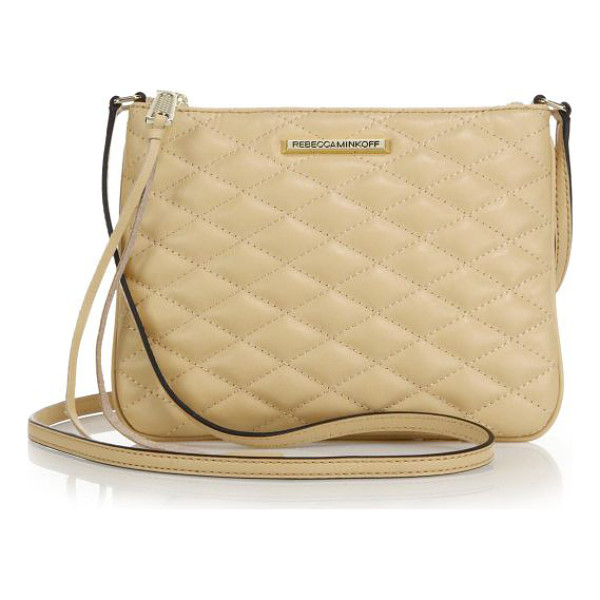 REBECCA MINKOFF Kerry quilted crossbody bag - Crafted from soft quilted leather, this slim pouch design...