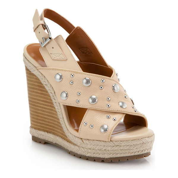 REBECCA MINKOFF Kimiko studded wedge sandals - Studs dot these rope-trimmed leather wedge sandals with a...