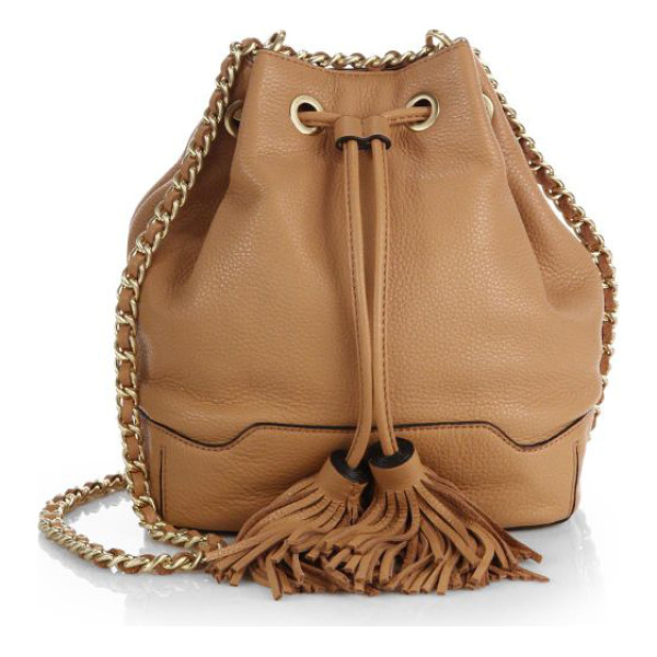 REBECCA MINKOFF Lexi bucket bag - A classic bucket design elevated by a tassel-trimmed...