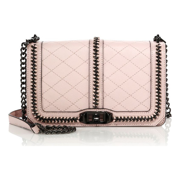 REBECCA MINKOFF Miami love topstitched leather crossbody bag - EXCLUSIVELY AT SAKSFrom the Rebecca Minkoff Blogger...