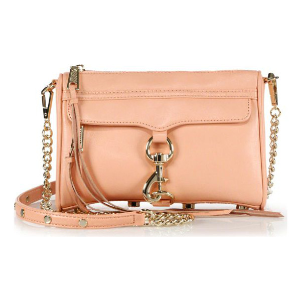 REBECCA MINKOFF Mini mac convertible crossbody bag - Versatility defines this easy shape of butter-soft leather,...