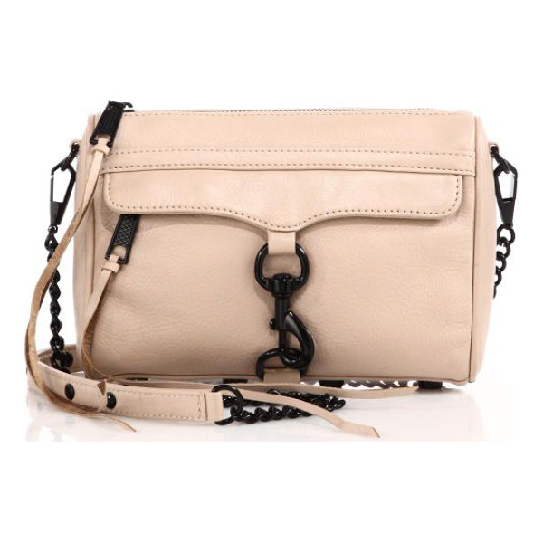 REBECCA MINKOFF Mini mac convertible crossbody bag - This most-wanted leather style with high contrast black...