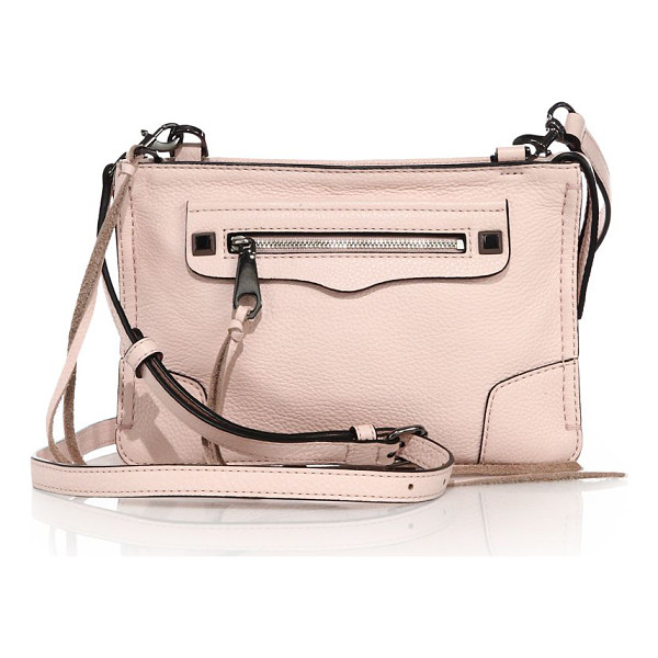 REBECCA MINKOFF Regan leather crossbody bag - Stylish pebbled leather bag updated by tassel...
