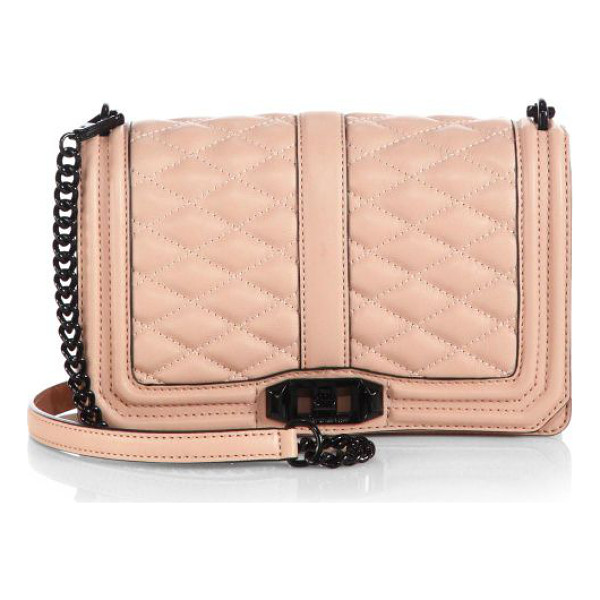 REBECCA MINKOFF Quilted love crossbody bag - Gorgeous quilted leather flap-front design with high...