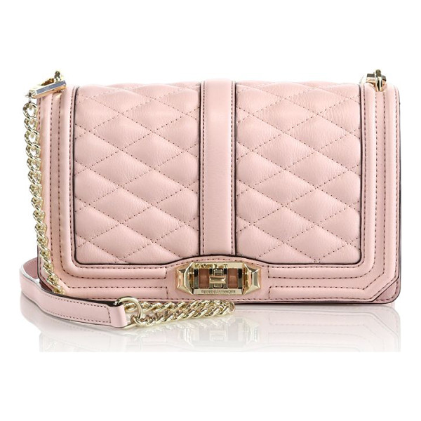 REBECCA MINKOFF Quilted love leather crossbody bag - A timeless brand favorite with quilted leather and gleaming...