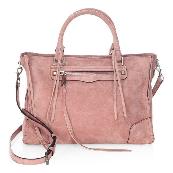 REBECCA MINKOFF regan leather sachel - Distressed satchel featuring chic stitched detail. Double...