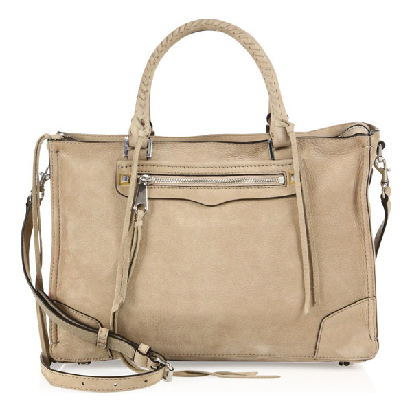 REBECCA MINKOFF regan nubuck leather satchel - Nubuck satchel with whipstitched handles and tassel trim....