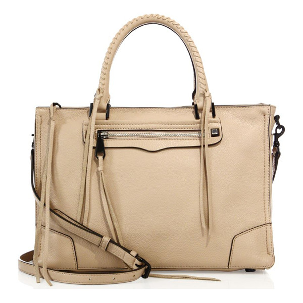REBECCA MINKOFF regan nubuck leather satchel - Leather satchel with whipstitched handles and tassel trim....