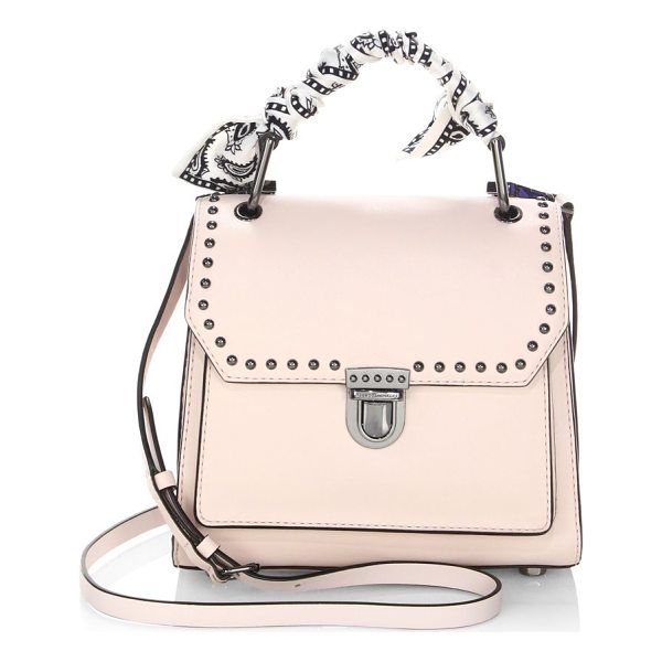 REBECCA MINKOFF st tropez small leather satchel - Leather satchel adorned with a scarf-wrapped handle. Top...