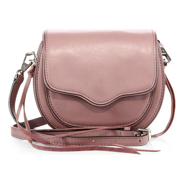 REBECCA MINKOFF Sydney mini leather crossbody bag - Petite leather crossbody with scalloped flapRemovable,...