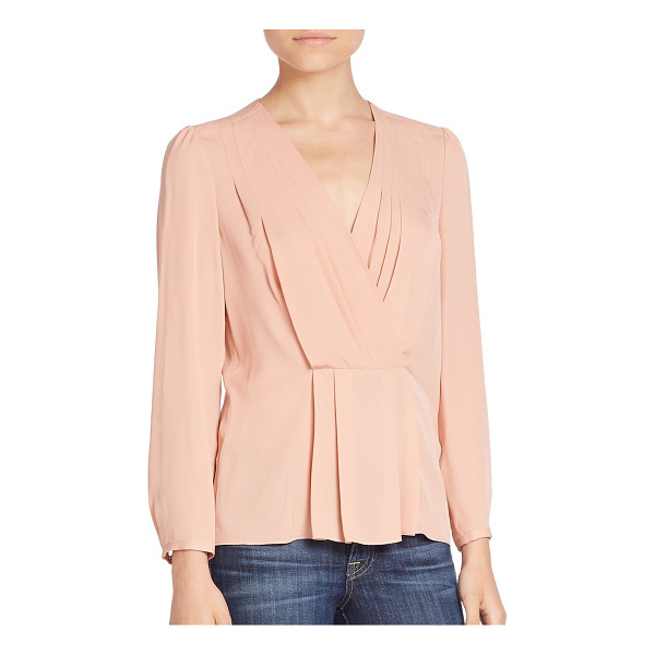REBECCA TAYLOR pintucked silk top - Graceful pintucking on a wrap style essential....