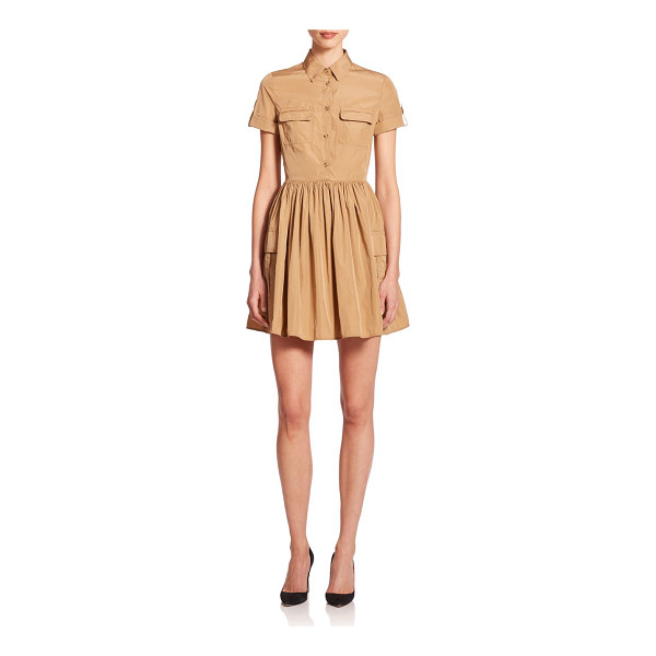 RED VALENTINO Buttoned-front shirtdress - A cinched waist lends a defining, feminine flare to this...