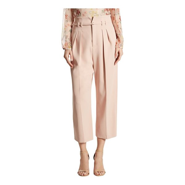 RED VALENTINO high-waist cropped wide-leg pants - Pleated, high-waist pants in wide-leg silhouette. Belted...