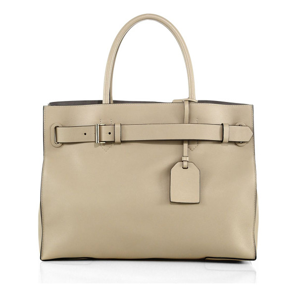 REED KRAKOFF Rk40l milled-leather satchel - Crafted from milled leather for exquisite softness, this...