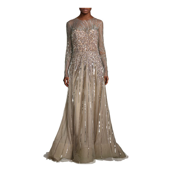 REEM ACRA Embellished tulle gown - Radiant tulle gown with shimmering sequin accents....