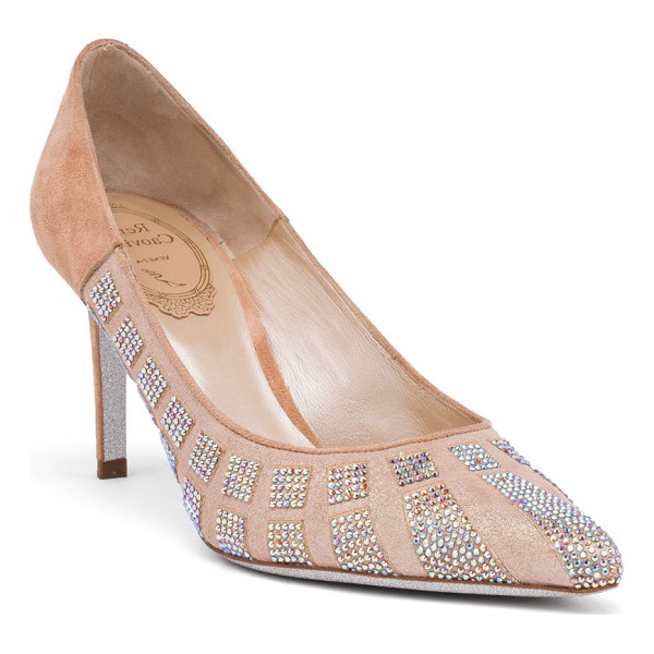 RENE CAOVILLA strass point toe pumps - Shimmering point-toe pump with crystal embellishment....