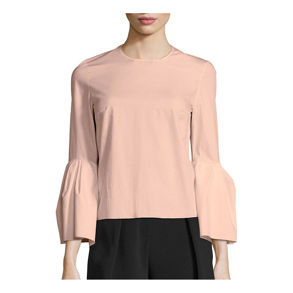 ROKSANDA truffaut bell sleeve blouse - Cotton-blend blouse with stylish bell sleeves. Roundneck....