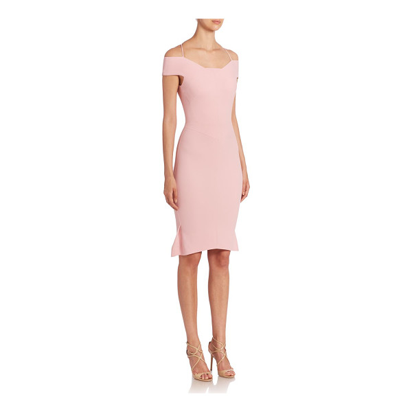 ROLAND MOURET beatrix stretch dress - Pleated details accent this off the shoulder design. Off...