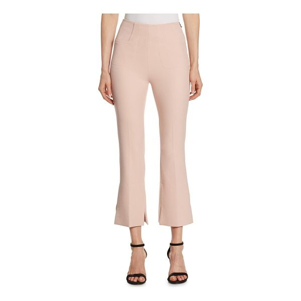 ROLAND MOURET goswell cropped trousers - Cropped stretch pants with slightly flared hems. Side zip...