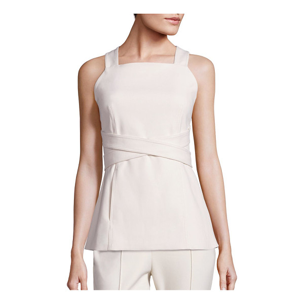 ROSETTA GETTY Apron wrap top - Solid apron top with chic crisscross straps. Squareneck....