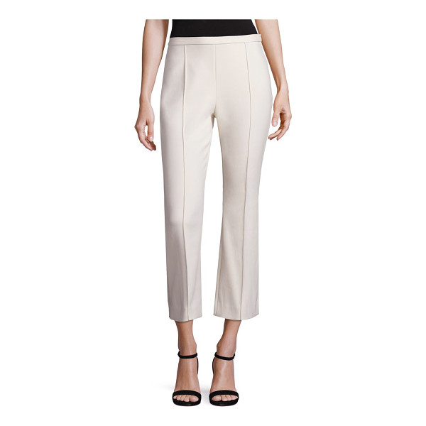 ROSETTA GETTY Cropped flare pants - Solid fitted pants in a cropped silhouette. Piping detail....