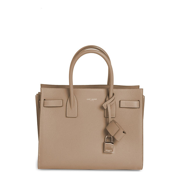 SAINT LAURENT baby sac de jour leather tote - Sophisticated top-handle tote with signature padlock.