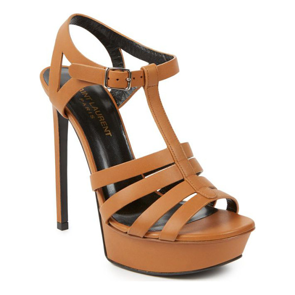 SAINT LAURENT Bianca leather sandals - Classically chic sandals crafted from luxe leather and...