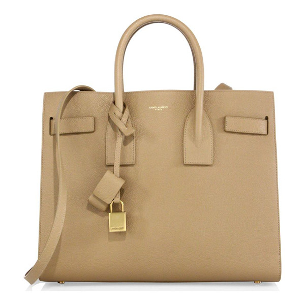 SAINT LAURENT small sac de jour leather tote - Sophisticated signature with a structured silhouette....
