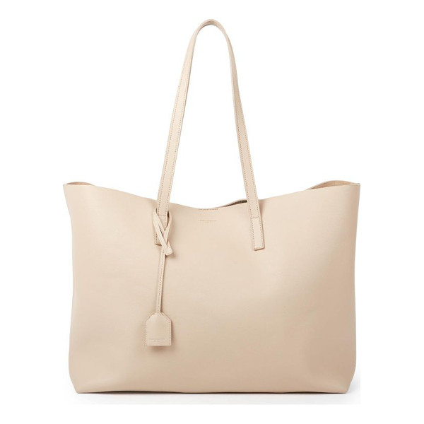 SAINT LAURENT large leather shopping tote - Crafted of soft, supple leather, this spacious shopper