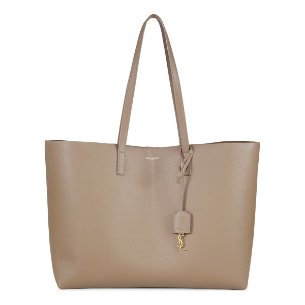 SAINT LAURENT large leather shopping tote - Crafted of soft, supple leather, this spacious shopper...