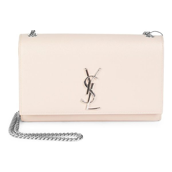 SAINT LAURENT medium kate grained leather chain shoulder bag - Timeless heritage design featuring the YSL logo in...