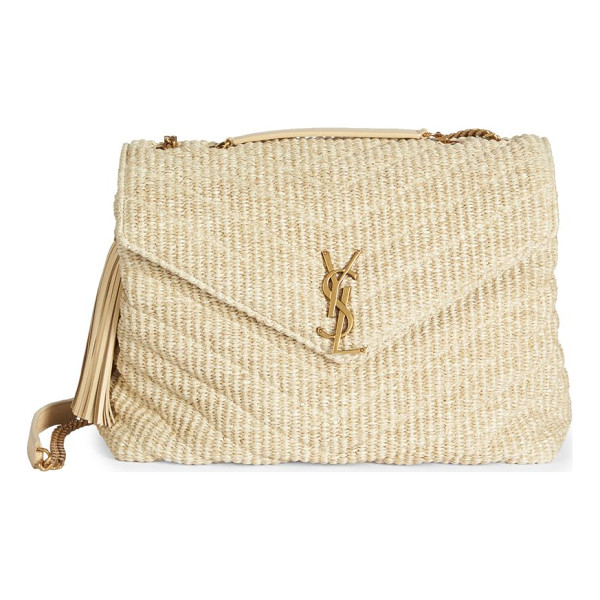 SAINT LAURENT large lou lou braided chain shoulder bag - Braided matelasse envelope style with leather tassel. Top...