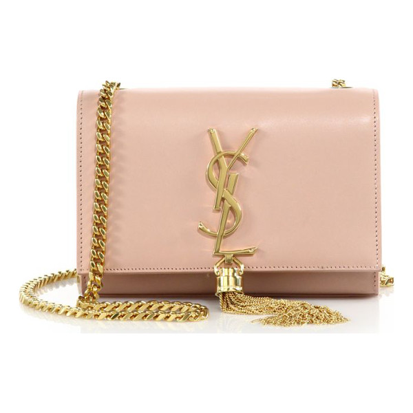 SAINT LAURENT monogram small tassel chain bag - Effortlessly elegant in smooth leather, this chain bag