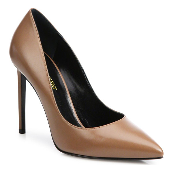 SAINT LAURENT paris skinny leather pumps - A wardrobe essential for every woman, the sleek point-toe...