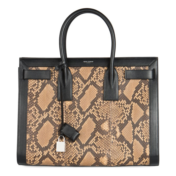 SAINT LAURENT Sac de jour small python tote - A structured carryall design crafted in exotic python skin...