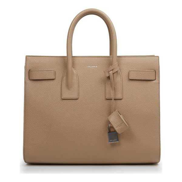 SAINT LAURENT Small sac de jour tote - Expertly crafted in rich pebbled leather, this structured...