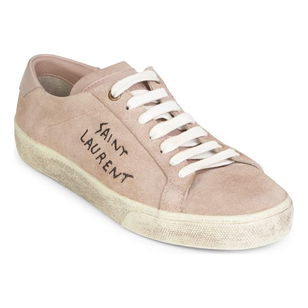 SAINT LAURENT vintage low top sneakers - Casual cotton sneakers with a weathered finish. Cotton...