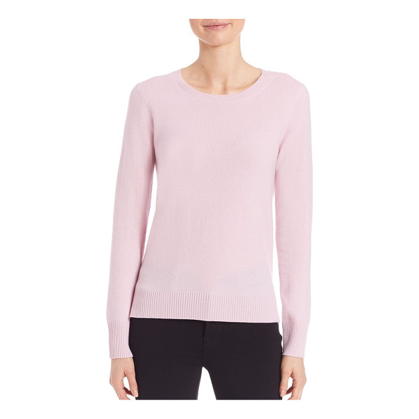 SAKS FIFTH AVENUE COLLECTION cashmere crewneck sweater - EXCLUSIVELY OURS. Essential plush cashmere crewneck...