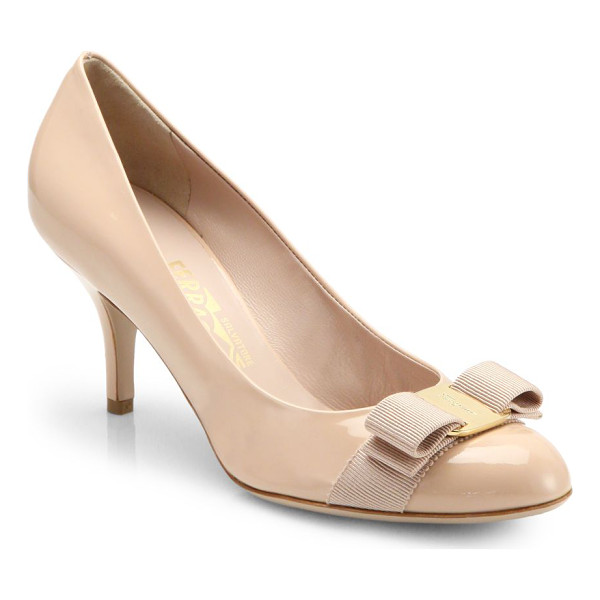 SALVATORE FERRAGAMO Carla patent leather bow pumps - One of Salvatore Ferragamo's staple pumps, meticulously...