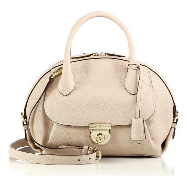 SALVATORE FERRAGAMO fiamma medium pebbled leather satchel - A soft pebbled finish lends luxe texture to this shapely...